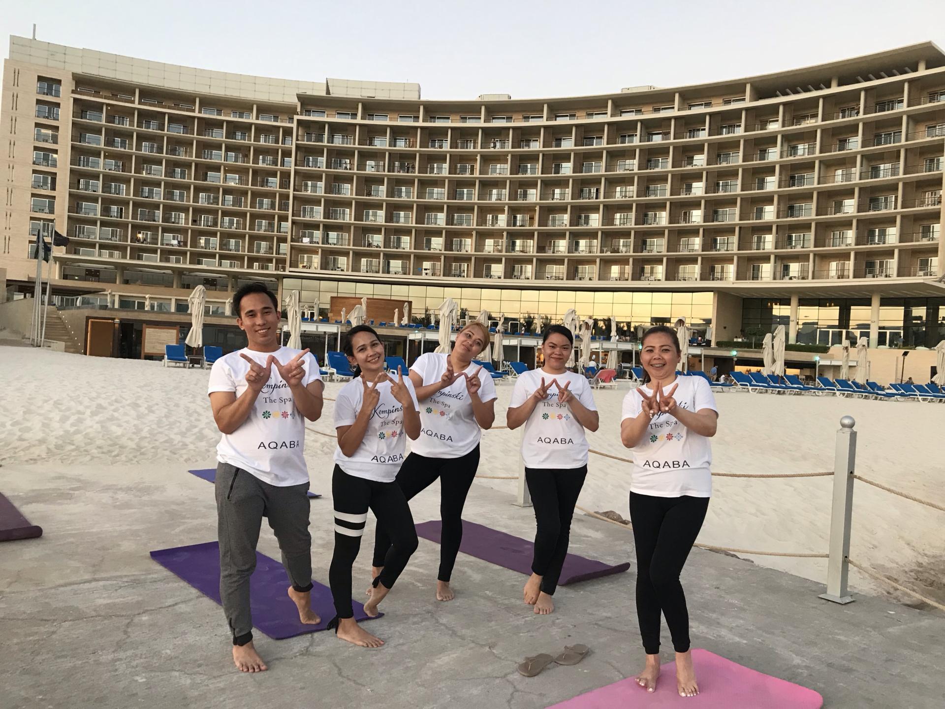 KEMPINSKI AQABA, Red Sea Jordan joins World Wellness Weekend (21 – 22 September, 2019)  Copy